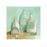 Still Life with Bottles I Print by Derek Melvile