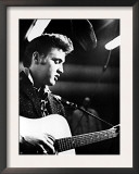 Elvis Presley, Recording in the Studio, June, 1956 Prints