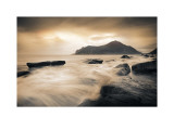 Sepia Sea, Lofoten Islands Print by Andreas Stridsberg