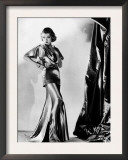 Constance Bennett in Evening Gown by Designer Adrian, 1935 Posters