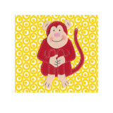 Cheeky Monkey Art by Catherine Colebrook