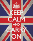 Keep Calm And Carry On (Union Jack) Affiches