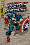 Captain America - Retro Plakát