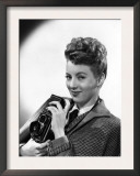 Evelyn Keyes, with a Rolex Camera, Mid-1940s Prints