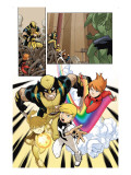 Wolverine And Power Pack No.1 Group: Wolverine, Zero-G, Mass Master, Lightspeed and Energizer Art by Gurihiru