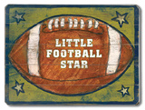 Football Star Wood Sign