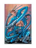 Marvel Age Fantastic Four No.2 Cover: Mr. Fantastic and Invisible Woman Prints by Gurihiru