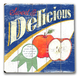 Delicious Apples Wood Sign