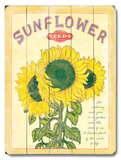 Sunflower Seeds Wood Sign
