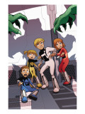 Power Pack: Day One 2 Cover: Lightspeed, Energizer, Mass Master and Zero-G Poster by Gurihiru Unknown