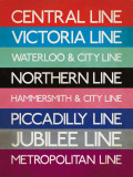 London Transport Tube Lines Poster