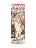 La Dame aux Camelias Premium Giclee Print by Alphonse Mucha