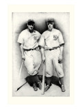 Dimaggio and Gehrig Reproduction giclée Premium par Allen Friedlander