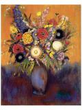 Fleurs Premium Giclee Print by Odilon Redon