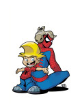 Gus Beezer & Spiderman No.1 Cover: Gus Beezer and Spider-Man Prints by  Gurihiru