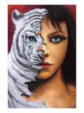 The Tigress Giclee-tryk i høj kvalitet af Jim Warren