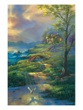 Evening Comfort Premium Giclee Print by Jim Warren