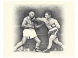 Rocky Marciano Giclee-tryk i høj kvalitet af Allen Friedlander