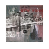 New York by Night Posters by Martine Rupert