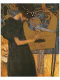 Die Musik Giclée-Premiumdruck von Gustav Klimt