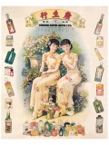 Shangai Ladies with Beauty Products Premium Giclee Print