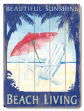 Beautiful Sunshine Beach Living Wood Sign
