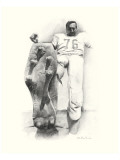 Lou Groza Premium Giclee Print by Allen Friedlander