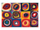 Studio del colore: quadrati con cerchi concentrici Stampa giclee premium di Wassily Kandinsky
