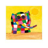 David Mckee - Elmer in the Sun - Art Print