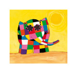 Elmer in the Sun Art by David Mckee