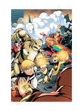 Iron Man And Power Pack 3 Cover: Zero-G, Lightspeed and Energizer Prints by Gurihiru Unknown