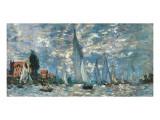 Regatta in Argenteuil Premium Giclee Print by Claude Monet