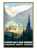 Canadian Pacific, Chateau Lake Louise Wydruk giclee premium