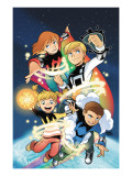 Power Pack: Day One No.1 Cover: Lightspeed, Mass Master, Zero-G and Energizer Prints by Gurihiru