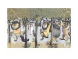 Let the Wild Rumpus Start II Láminas por Sendak, Maurice