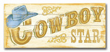 Cowboy Wood Sign