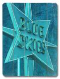 Blue Skies II Wood Sign
