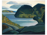 Coldwell Bay, North of Lake Superior Premium giclée print van Lawren S. Harris
