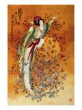 Goddess of Wealth Giclee-tryk i høj kvalitet