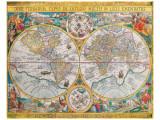 Antikt kort, Orbis Terrarum, 1636, på latin Giclee-tryk i høj kvalitet af Jean Boisseau