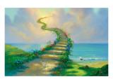Stairway to Heaven Giclee-tryk i høj kvalitet af Jim Warren