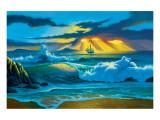 Fanta-Sea Giclee-tryk i høj kvalitet af Jim Warren