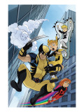 Wolverine And Power Pack 4 Cover: Wolverine, Lightspeed, Energizer, Mass Master and Zero-G Posters by Gurihiru Unknown