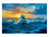 At Sunset Giclée-Premiumdruck von Jim Warren