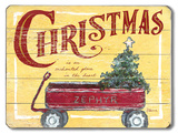 Christmas Wagon Wood Sign