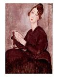 Madame Dedie Premium Giclee Print by Amedeo Modigliani