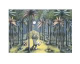 To the Land of the Wild Things Lámina por Sendak, Maurice