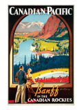 Canadian Pacific, Banff in the Canadian Rockies Premium Giclee Print