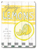 Juicy Lemons Wood Sign