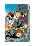 Iron Man And Power Pack 4 Cover: Lightspeed, Mass Master, Zero-G and Energizer Prints by Gurihiru Unknown